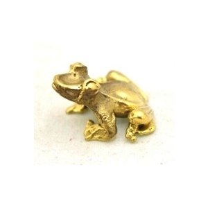 【メール便OK】 蛙 カエル インテリア ミニチュア 銅製置物 福返る 無事帰る|ryu