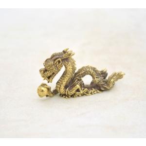 【メール便OK】 龍 ドラゴン ミニチュア 銅製置物 四神 東 守護神|ryu