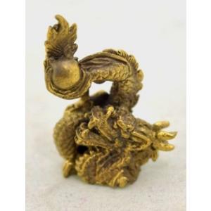 龍 総合運 如意宝珠 ミニチュア 銅製|ryu