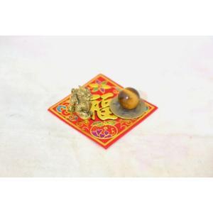 【メール便OK】 貔貅 ミニチュア風水セット 古銭 福飾り 選べる天然石 銅製置物 ヒキュウ|ryu|04