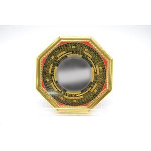 八卦鏡 羅盤付 凸面鏡 16cm 風水 開運|ryu