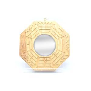八卦鏡 凹面鏡 木製置物 気の安定盤 20cm ryu