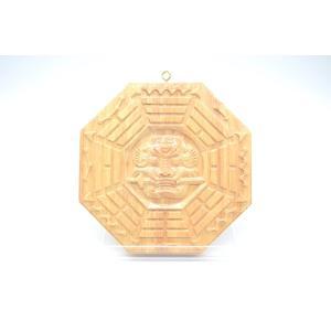八卦 獅子 木製置物 気の安定盤 20cm ryu