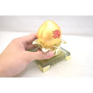 桃 もも 金 樹脂製 ガラス台座 寿 健康運 結婚運|ryu|04