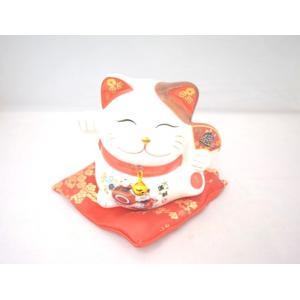開運/貯金箱/招き猫(座布団付き)/宝扇子 ryu
