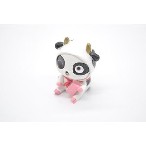 パンダ 牛の着ぐるみ ミルク マスコット人形 樹脂製置物 5.5cm|ryu