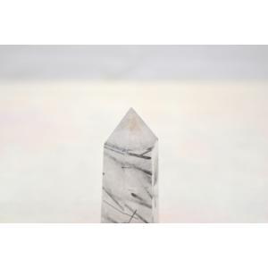 ブラックトルマリンルチルクオーツ 透明度高め 六角柱 ポイント型 パワーストーン 天然石置物|ryu|03
