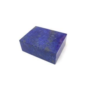 成功運/幸運/ラピスラズリ/アクセサリーケース/ 天然石置物 / 正方形/1点もの|ryu