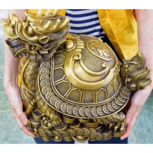 龍亀 ロングイ 銅製置物 仕事運 財運 特大|ryu|11