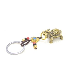 【メール便OK】 龍亀 ロングイ キーホルダー 銅製置物 ミニチュアサイズ|ryu