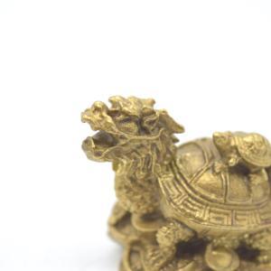 龍亀 ロングイ  銅製置物 亀 小|ryu