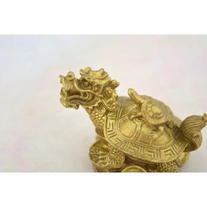 龍亀 ロングイ  銅製置物 亀 小 ryu 06