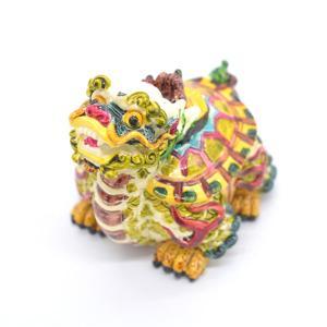 龍亀 ロングイ カラフル 樹脂製置物 彩色済み 6.5cm|ryu