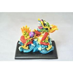 龍 カラフル 樹脂製 ドラゴン 総合運アップ 幸運のシンボル ryu