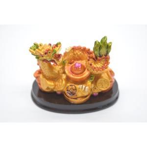 龍 カラフル 樹脂製置物 元宝 古銭 小|ryu