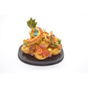 龍 カラフル 樹脂製置物 瓢箪 古銭 小|ryu