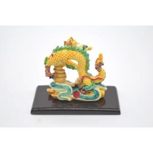 龍 カラフル 樹脂製置物 元宝 台座付き 龍騰盛世 中|ryu|05