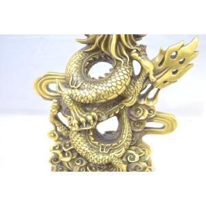 龍 竜 銅製置物 雲乗り 特大|ryu|13