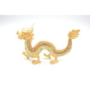 龍 竜 七宝焼き 金属製置物 五本爪 金色 ゴールド 大|ryu|02