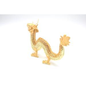 龍 竜 七宝焼き 金属製置物 五本爪 金色 ゴールド 大|ryu|03
