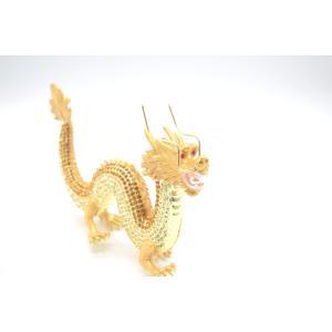 龍 竜 七宝焼き 金属製置物 五本爪 金色 ゴールド 大|ryu|06