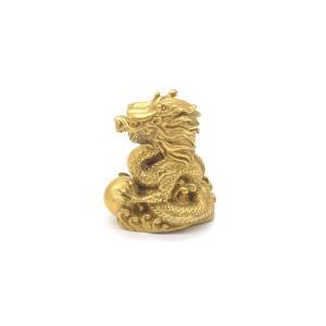 龍 竜 銅製置物 如意宝珠 小 総合運|ryu
