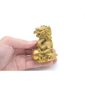 龍 竜 銅製置物 如意宝珠 小 総合運|ryu|07