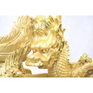 龍 鳳凰 樹脂製置物 金色 大 夫婦円満 金運 総合運|ryu|04