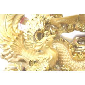 龍 鳳凰 樹脂製置物 金色 大 夫婦円満 金運 総合運|ryu|05
