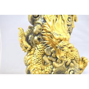 龍 竜 黄金雲龍 噴水置物 樹脂製 インテリア|ryu|12