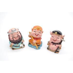 西遊記3点セット 孫悟空 猪八戒 沙悟浄 マスコット人形 樹脂製置物 6cm|ryu