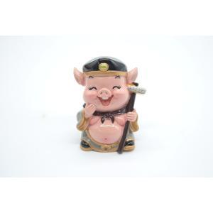 猪八戒 西遊記 樹脂製置物 マスコット人形 7cm|ryu