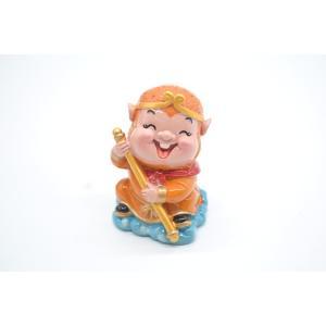 孫悟空 西遊記 樹脂製置物 マスコット人形 7cm|ryu