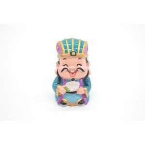 三国志  諸葛亮 孔明 樹脂製置物 マスコット人形 かわいい人形置物 7cm|ryu