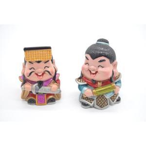 三国志 孫権 黄蓋 樹脂製置物 マスコット人形 二個セット かわいい人形置物 6cm ryu
