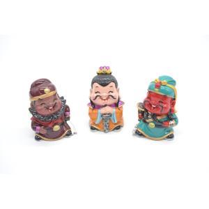 三国志 張飛 劉備 関羽 樹脂製置物 マスコット人形 3個セット かわいい人形置物 6cm|ryu