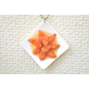 エビ煮 ストラップ 食品サンプル 中華料理|ryu