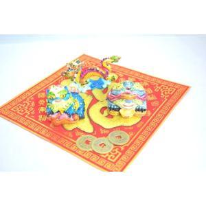 龍 置物 三本脚の蛙 獅子 古銭 福飾り 総合セット 全体運アップ 金運 幸福|ryu