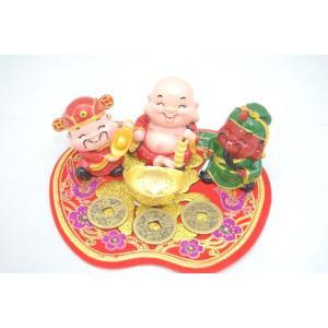 笑仏様 ほてい様 関羽 財神 元宝 古銭 福飾り金運 初めての風水セット|ryu