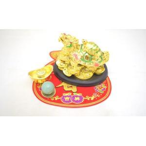 龍亀 元宝 アベンチュリン 古銭 福飾り 開運 金運 初めての風水セット|ryu
