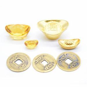 【メール便OK】 元宝 金属製 樹脂製 銅製古銭 セット商品 招財アイテム  初めての風水セット|ryu