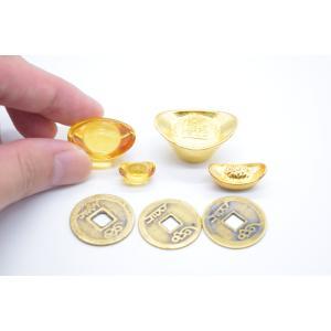 【メール便OK】 元宝 金属製 樹脂製 銅製古銭 セット商品 招財アイテム  初めての風水セット|ryu|02