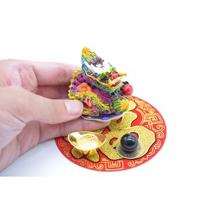 龍 風水セット 選べる天然石 元宝 古銭 丸型福飾り 樹脂製置物|ryu|03