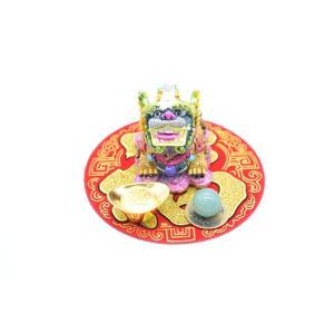 貔貅 風水セット 選べる置物と天然石 元宝 古銭 丸型福飾り 樹脂製置物|ryu