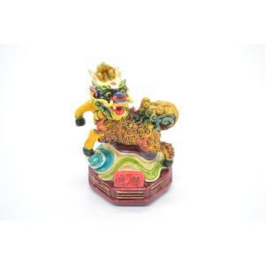 麒麟 中央 守護神 五神 樹脂製置物 彩色済み パワースポット 9cm|ryu