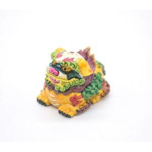 風水アイテム 獅子 しし 置物 魔除け 招財運 樹脂製 小|ryu
