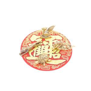 【メール便OK】 青龍 朱雀 白虎 玄武 四神 ミニチュア 銅製置物 四体セット|ryu