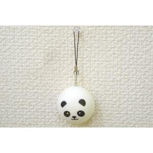 パンダ スクイーズ もちもち触感 ストラップ 丸型 小|ryu