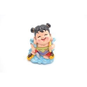 ナタ三太子 中壇元帥 太子神仙 アジアの神々 マスコット人形 樹脂製置物 彩色済み 9cm|ryu