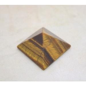 タイガーアイ 虎目石 ピラミッド パワーストーン 天然石置物 小|ryu